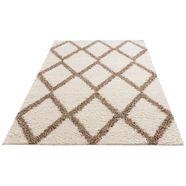 my home hoogpolig vloerkleed linz dichte pool, ruitdesign, woonkamer wit