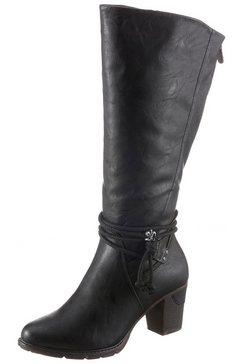 rieker laarzen met sierbandjes zwart