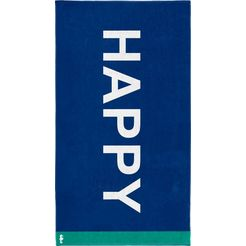 strandlaken »happy«, seahorse blauw