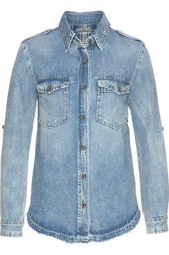 ltb jeansblouse »simel« blauw