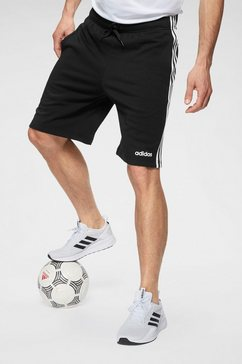 adidas short »e 3 stripes short ft« zwart