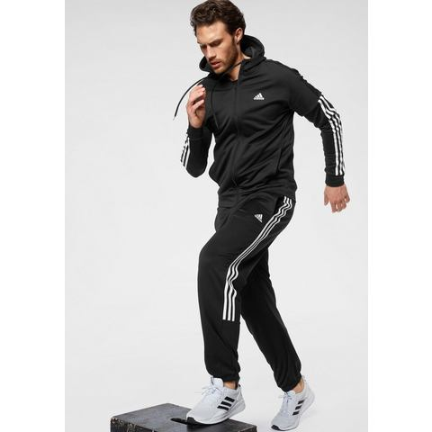 adidas Performance trainingspak 3 STRIPES HOPODED TRACKSUIT M (set, 2-delig)