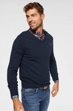 gant trui met v-hals blauw