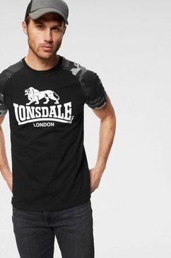 lonsdale t-shirt »kensington« zwart