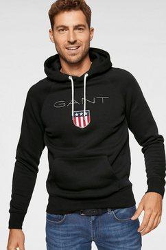 gant sweatshirt met capuchon »shield sweat hoodie« zwart