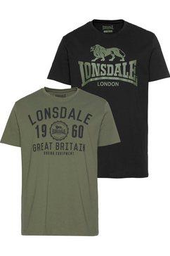 lonsdale t-shirt bangor (set, 2-delig, set van 2) groen