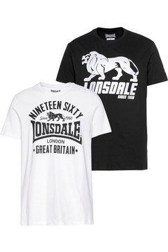 lonsdale t-shirt bylchan (set, set van 2) wit