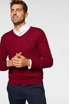 gant trui met v-hals rood