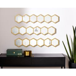 leonique wanddecoratie »spiegel« goud