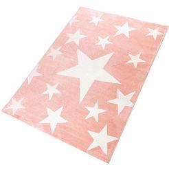 vloerkleed, »stars«, living line, rechthoekig, hoogte 12 mm, machinaal geweven roze