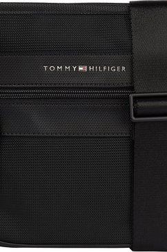tommy hilfiger schoudertas elevated nylon mini crossover met matzwarte details zwart