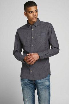 jack  jones overhemd met lange mouwen »classic melange shirt« grijs