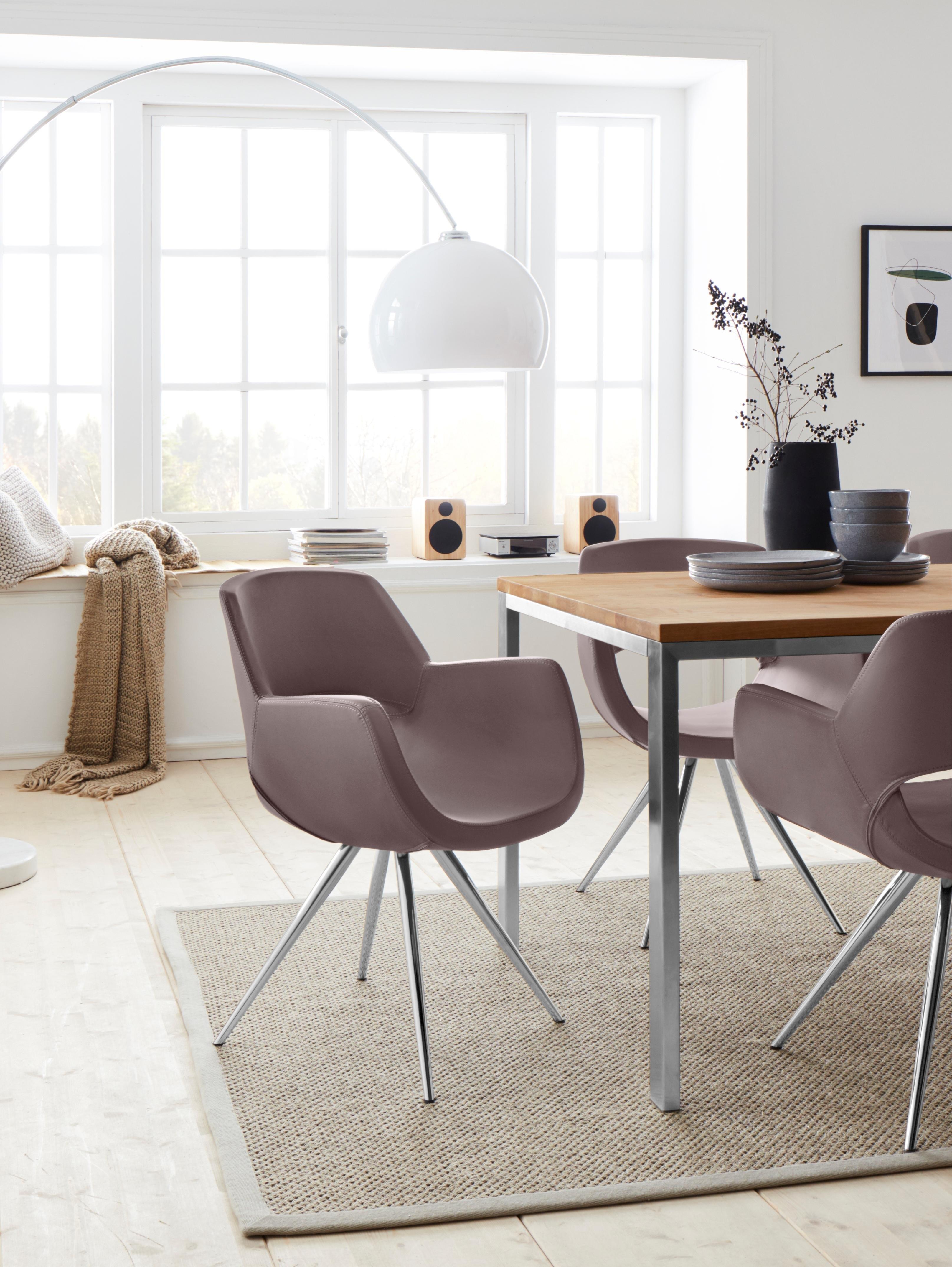 andas stoel met armleuningen Chiara met metalen poten in duidelijke, eenvoudige vormtaal online kopen op otto.nl