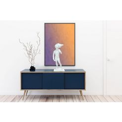 kayoom decoratief figuur »kenya 300« wit