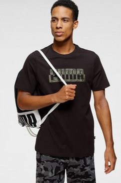 puma t-shirt »core camo graphic tee« zwart