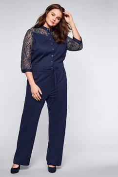 sheego jumpsuit blauw