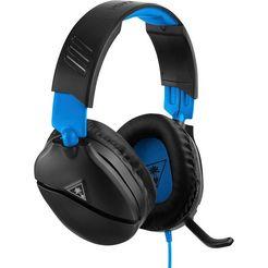 turtle beach »recon 70 p voor ps4 pro en ps4 (black)« gamingheadset (snoer, inklapbare microfoon) zwart