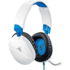 turtle beach »recon 70 p voor ps4 pro en ps4 (white)« gamingheadset (snoer, inklapbare microfoon) wit