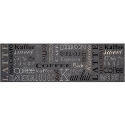 keukenloper, »coffee choice«, zala living, rechthoekig, hoogte 5 mm, machinaal getuft grijs
