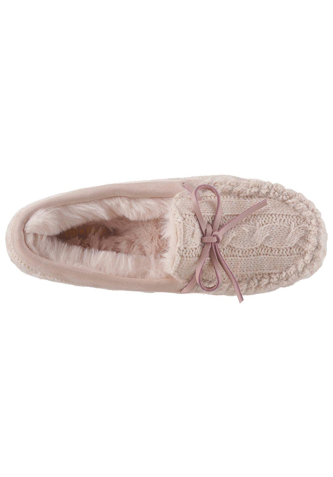 Flip Flop pluchen pantoffels  Loafer Knit in de online shop  beige