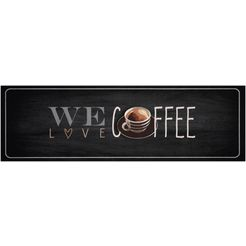 keukenloper, »we love coffee«, zala living, rechthoekig, hoogte 5 mm, machinaal getuft grijs