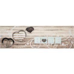 keukenloper, »home is where«, zala living, rechthoekig, hoogte 5 mm, machinaal getuft beige