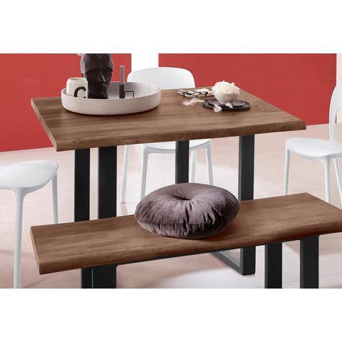 INOSIGN tafel van hout Selina met mooi metalen frame en hout-look met folie op het tafelblad