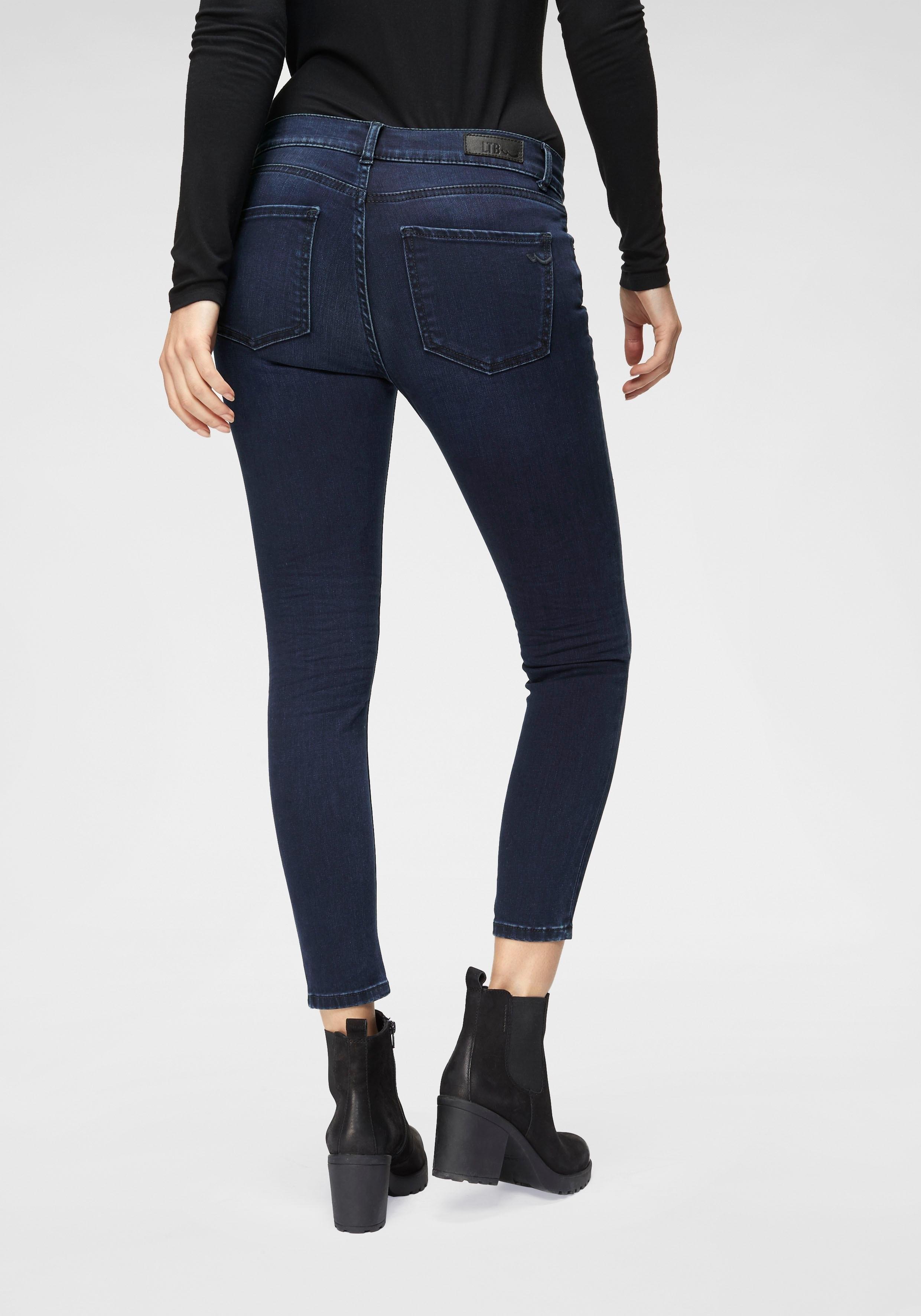 LTB skinny fit jeans LONIA in extra korte cropped lengte nu online kopen bij OTTO