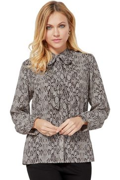 création l blouse met slangenprint beige