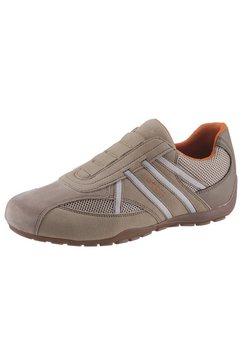 geox slip-on sneakers »ravex« bruin