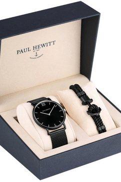 paul hewitt kwartshorloge »perfect match, ph-pm-4-xxl« (set, 2 tlg., mit phrep) zwart