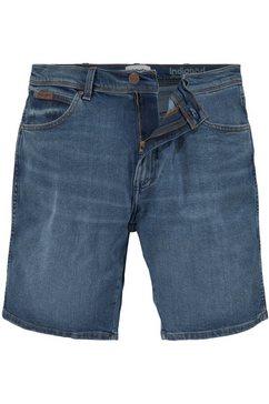 wrangler jeansshort texas blauw