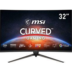 """msi curved-gaming-monitor optix ag321cqr, 80 cm - 31,5 """", wqhd, in hoogte verstelbaar, 3 jaar fabrieksgarantie zwart"""