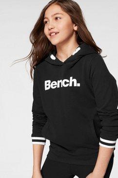 bench. hoodie met frontprint zwart