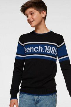 bench. gebreide trui zwart