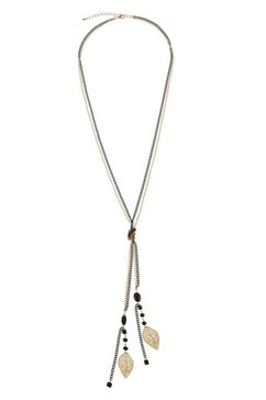 lascana ketting en set hangers »lascana lange ketting met hangers in etno-look« zwart