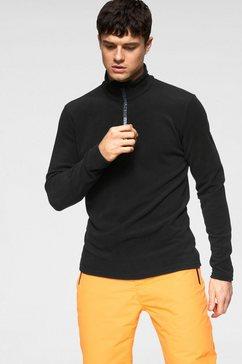 brunotti tricot-fleecetrui »tenno« zwart