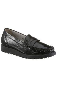 waldlaeufer instappers hegli van lakleer, in comfortabele schoenwijdte h zwart