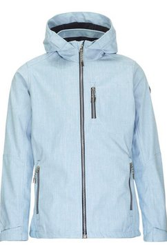 killtec softshell-jack »pattia« blauw