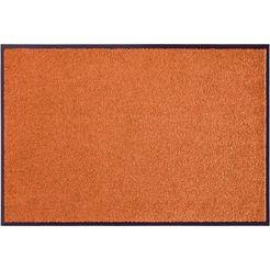 mat, »wash  clean«, hanse home, rechthoekig, hoogte 7 mm, machinaal getuft oranje