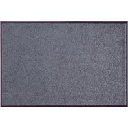 mat, »wash  clean«, hanse home, rechthoekig, hoogte 7 mm, machinaal getuft grijs