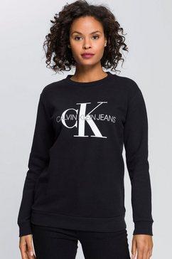 calvin klein sweatshirt met zacht geruwde binnenkant zwart