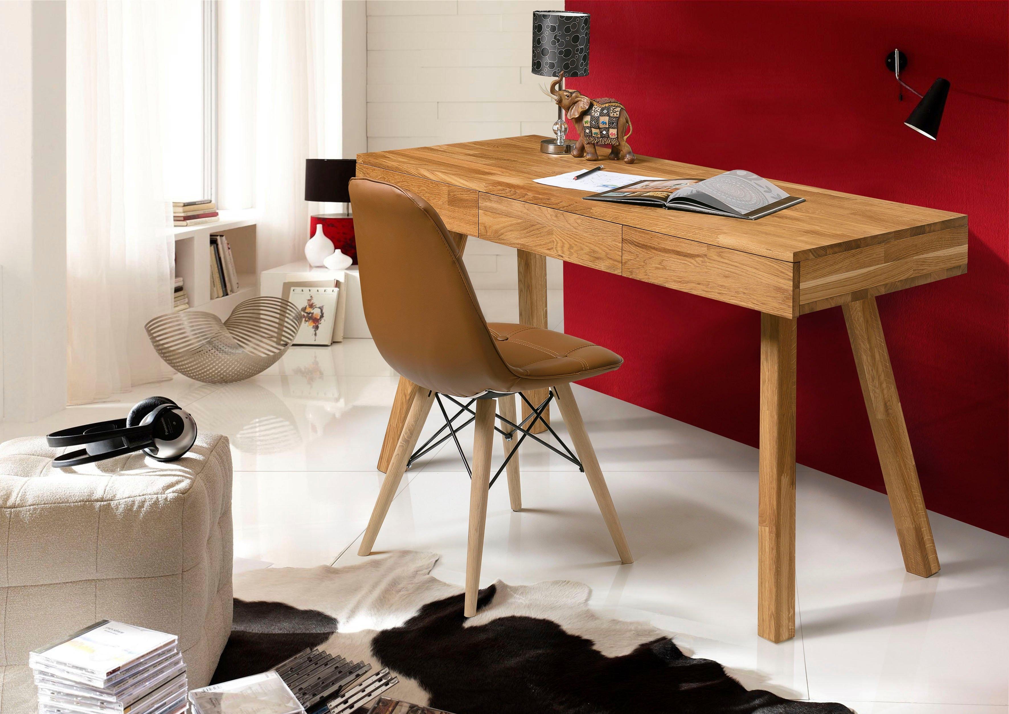 Op zoek naar een andas Bureau Modern van mooi massief eikenhout, 3 laden, rechthoekig tafelmodel? Koop online bij OTTO