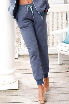 s.oliver red label beachwear relaxbroek steekzakken met contrastnaden blauw
