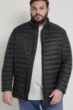 tom tailor men plus gewatteerde jas lichte gewatteerde jas zwart