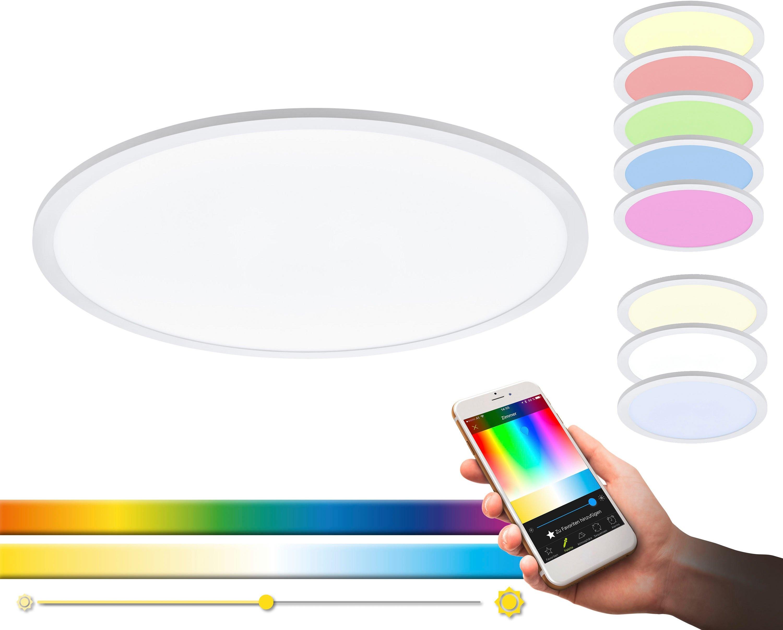 EGLO plafondlamp SARSINA-C EGLO CONNECT, bediening via app + afstandsbediening, BLE, CCT, RGB - gratis ruilen op otto.nl