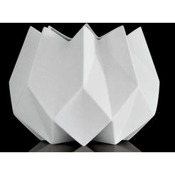 kaiser porzellan siervaas »polygono star 2« wit