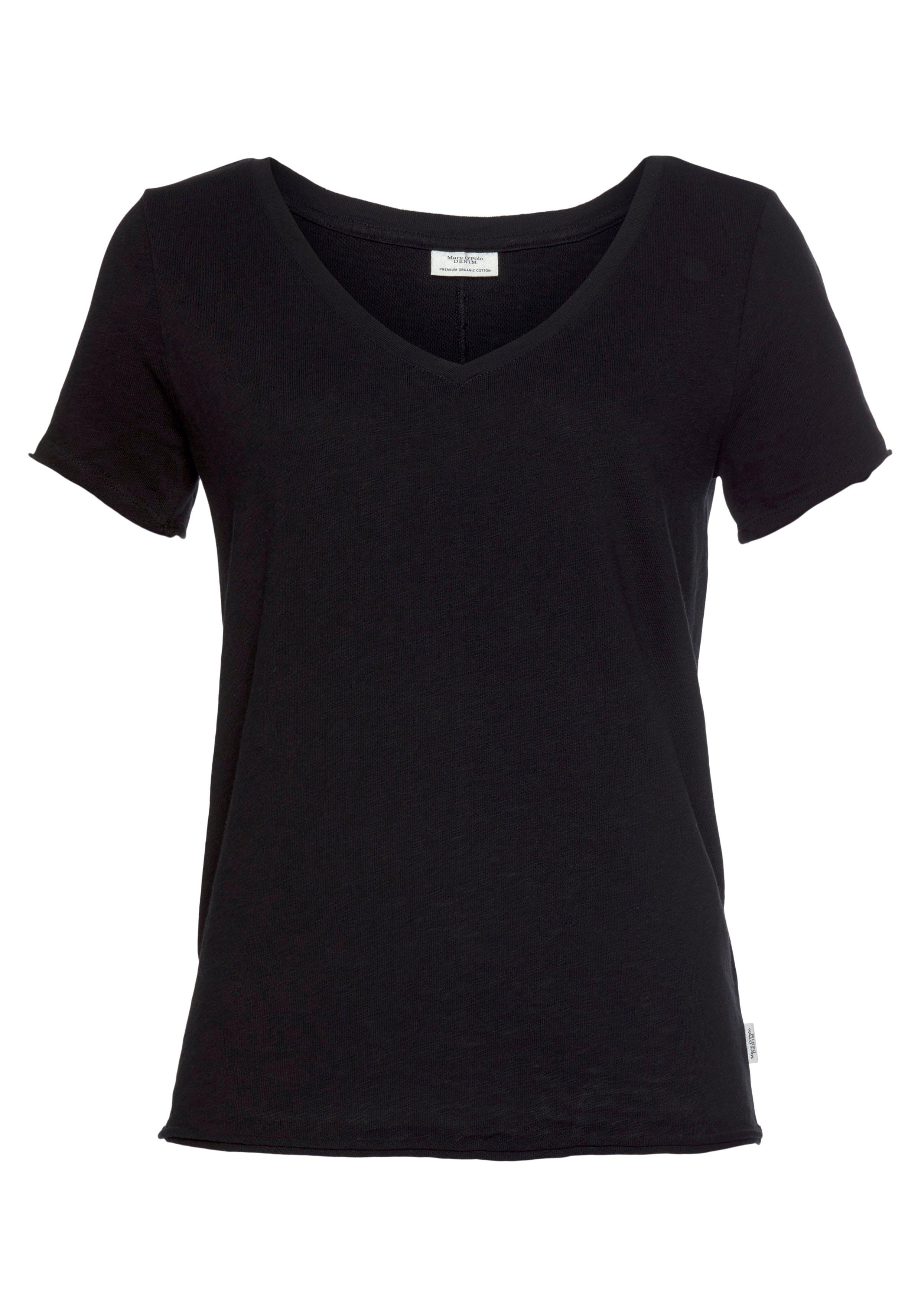 Marc O'Polo DENIM T-shirt met afgeronde v-hals nu online bestellen
