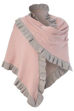 purset folkloreponcho met ruches roze
