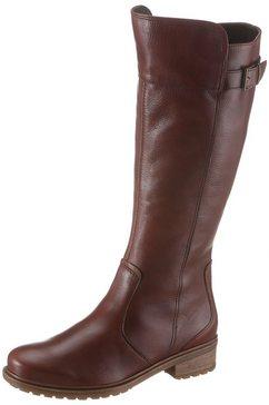 ara laarzen met wijde schacht kansas met xl-schacht, in used look bruin